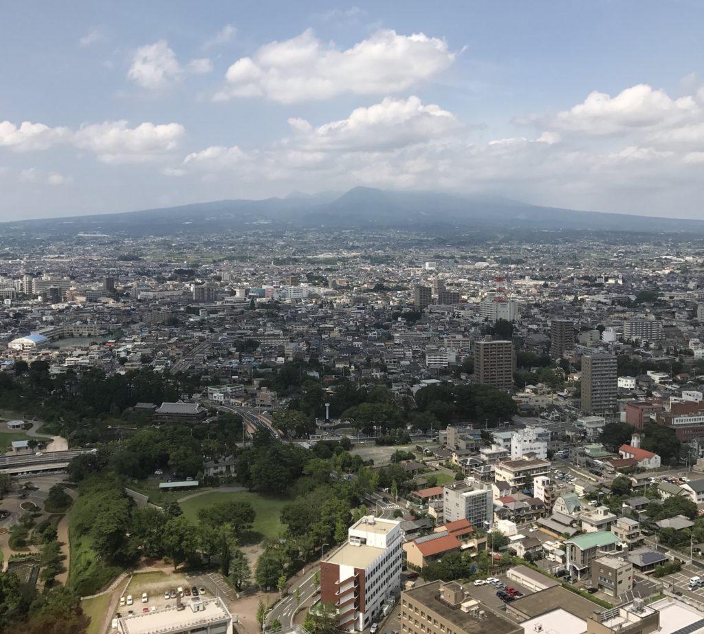 群馬県庁舎32階NETSUGENからの景色